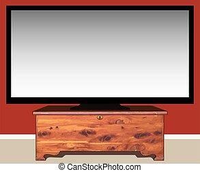 dd036390cb7 Big wall tv. Big black wall tv icon template with shadow on white ...