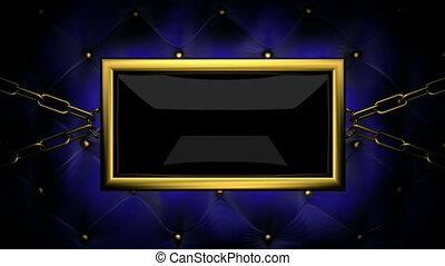 tv on velvet background