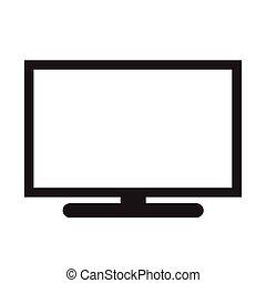 tv, ontwerp, illustratie, pictogram