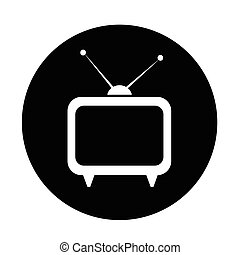 tv, ontwerp, illustratie, pictogram