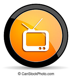 tv orange icon
