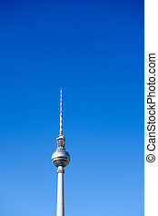 tv, ou, berlim, fersehturm, torre
