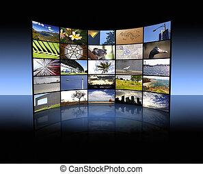 tv, paneel