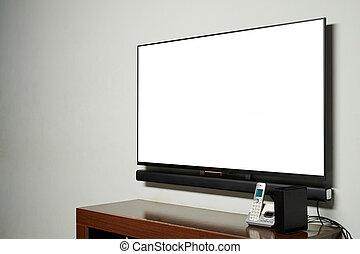 tv, parete, pannello