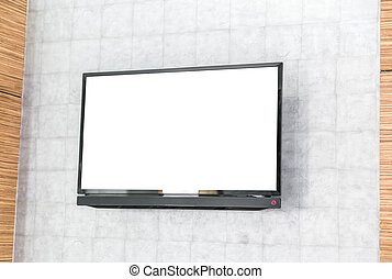 tv, parete, schermo