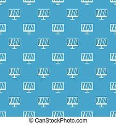 TV pattern seamless blue
