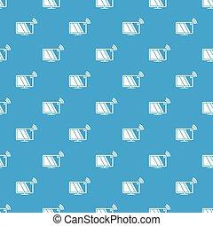 Tv pattern vector seamless blue