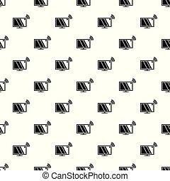 Tv pattern vector seamless