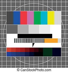 tv, pröva, avbild