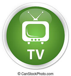 TV premium soft green round button