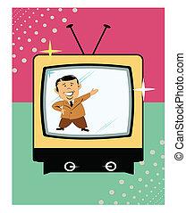 tv presenter on retro tv
