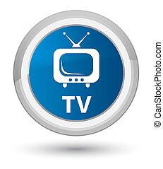 TV prime blue round button