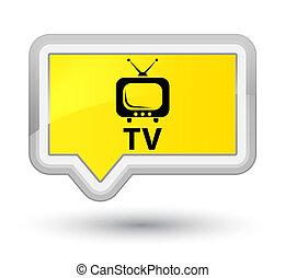 TV prime yellow banner button