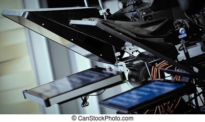 TV professional digital video camera with teleprompter HD