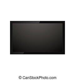 tv, réaliste, écran
