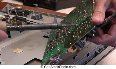 tv, réparation, ingénieur, électronique