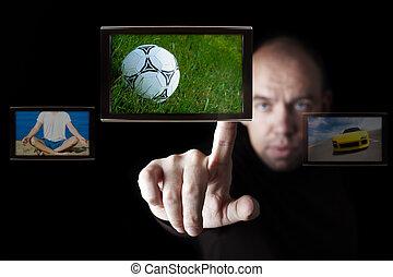 tv, radiodiffusione, internet