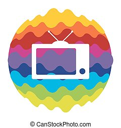 TV Rainbow Color Icon for Mobile Applications and Web