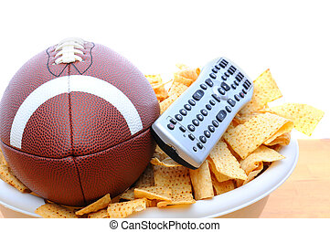 TV Remote, Chips and football