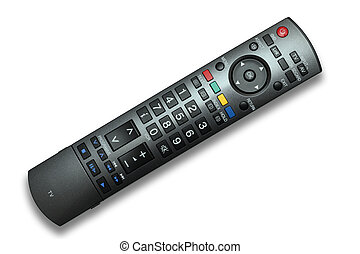 TV Remote Control isolated with clipping path