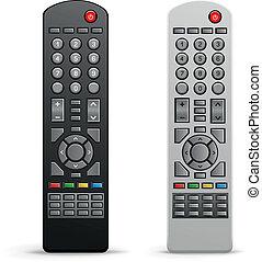 tv remote controller - The black and white tv remote...