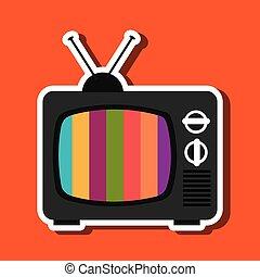 tv, retro, conception