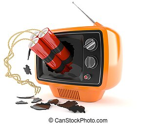 tv, retro, dynamite
