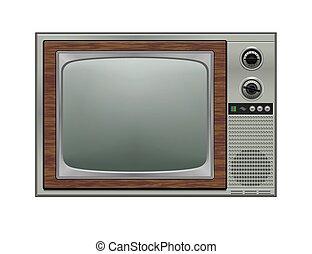 tv, retro, illustration