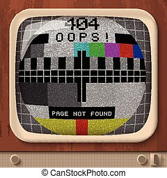 Tv Retro Signal Error Template