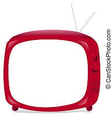 tv, rosso