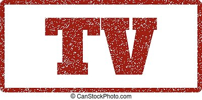 TV Rubber Stamp