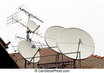 tv, satellite, antenne