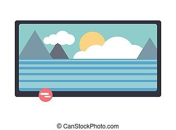 tv scherm, lcd, landscape, natuur