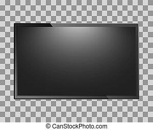 tv scherm, leeg