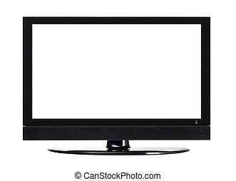 tv scherm, witte , lcd, achtergrond