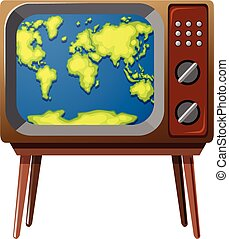 tv scherm, worldmap