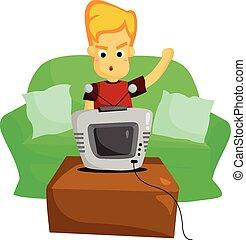 tv schouwend
