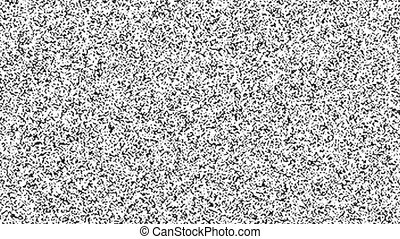 TV screen and turning off - Static noise on TV screen and...