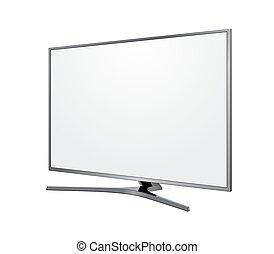 tv screen blank on white background