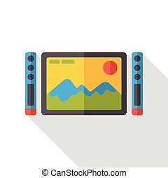 TV screen flat icon