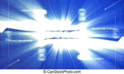 TV screen macro with flashing rando