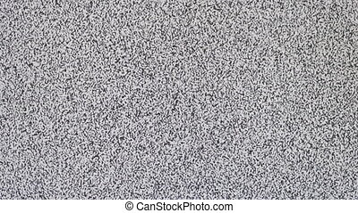 TV screen no signal, static noise and TV static fill the...