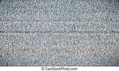 TV Screen with White Noise and Interference. Vintage TV static display, looping old fashioned no signal error. Video error. Abstract noise of analog television. Digital glitch. Damage to the video signal with pixel noise. Black and white dreaming background. Retro tv.