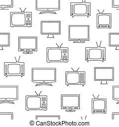 TV seamless pattern