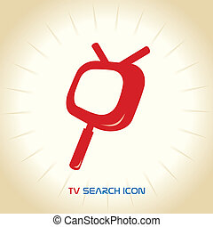 TV Search Mobile Icons - Vector TV Search Mobile Icons