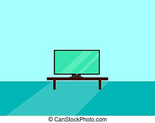 TV set, illustration, vector on white background.