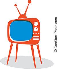 tv, set., retro