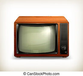 TV set retro, vector