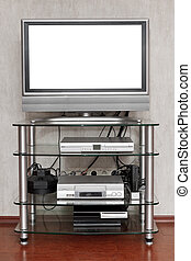 TV set with cut out screen