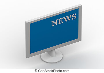 TV showing NEWS on screen